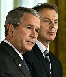 George Bush Tony Blair