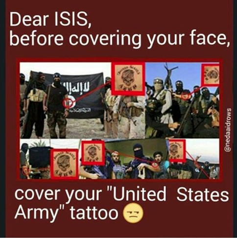 ISIS US Army tattoos