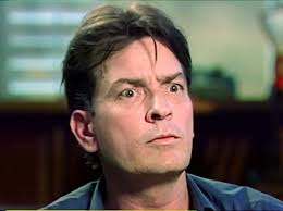 Charlie Sheen high