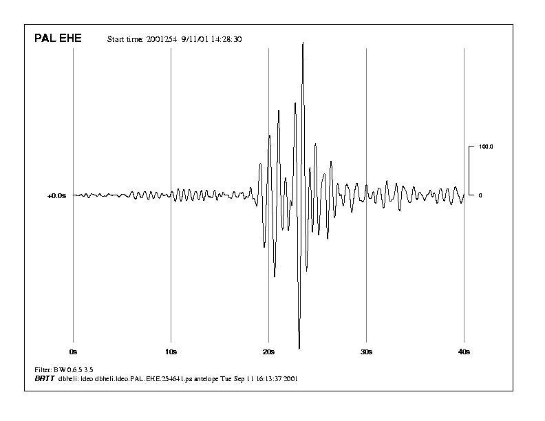 North Tower seismic