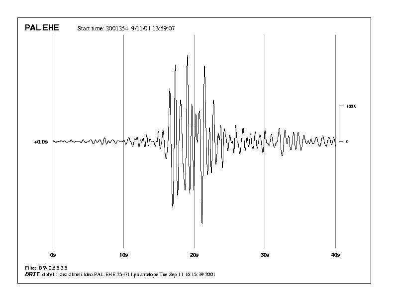 South Tower seismic